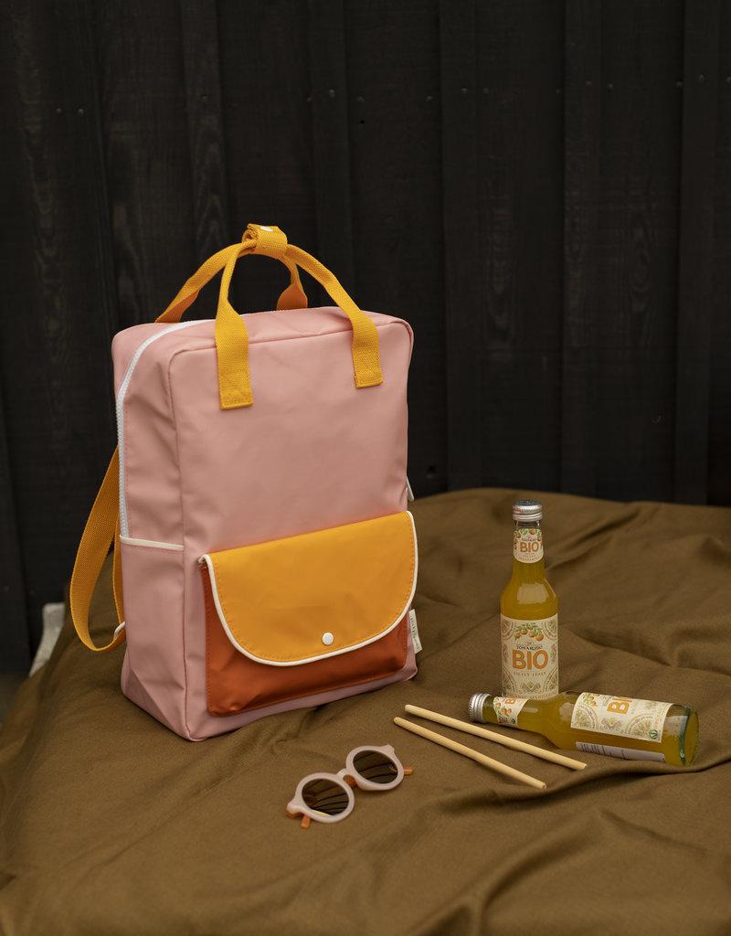Sticky Lemon Sticky lemon large backpack wanderer |candy pink + sunny yellow + carrot orange