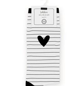 Winkeltje van Anne Winkeltje van Anne: Sokken - streepjes hartje wit