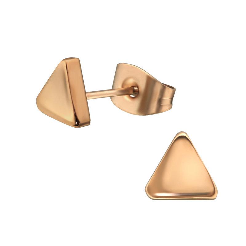 Precious jewels Precious jewels oorbellen driehoek rosé