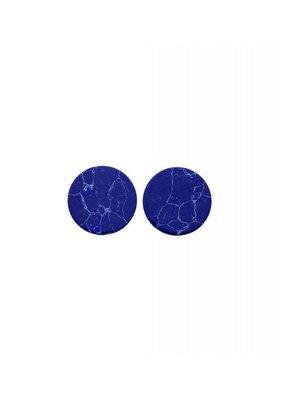 made by ellen Made by ellen 085 stekers plat 12mm blauw marmer