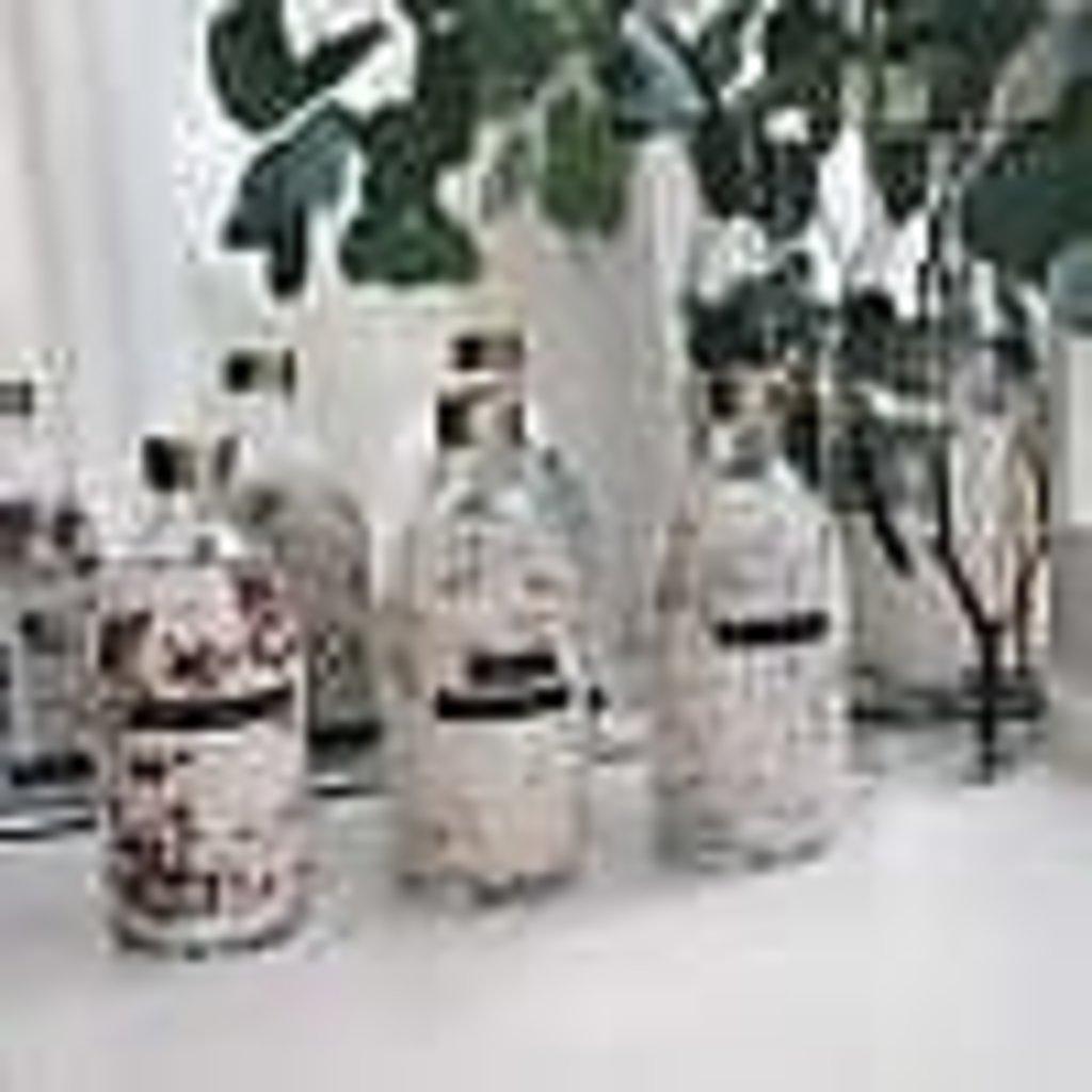 Wellmark Badzout lavendel helder glas messing dop 500ml 'me time'