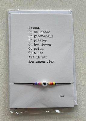 papierpleziertjes Papierpleziertjes - armbandplezier - Proost op de liefde