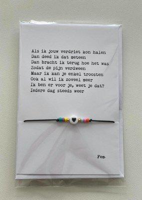 papierpleziertjes Papierpleziertjes - armbandplezier - Als ik jouw verdriet ...