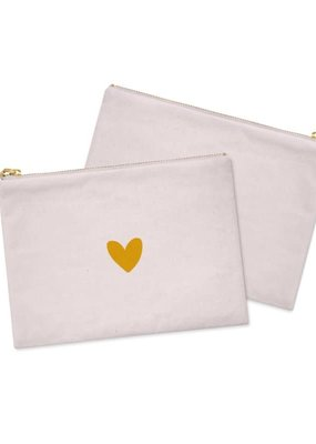 Stationery & gift Stationery & gift Cosmetic Bag / Etui | Pink & a Heart of GOLD