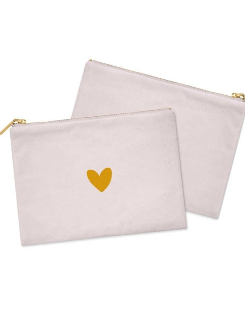 Stationery & gift Stationery & gift Cosmetic Bag / Etui   Pink & a Heart of GOLD