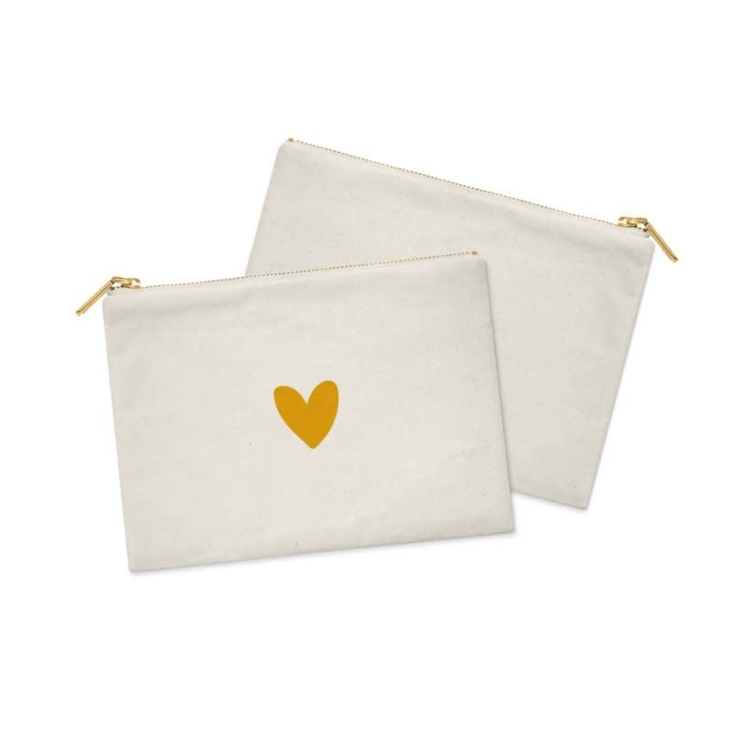 Stationery & gift Stationery & gift Cosmetic Bag / Etui | White  & a Heart of GOLD