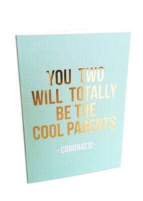 studio stationery Studio stationery dubbele kaart Cool parents