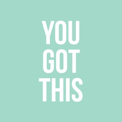 Studio stationery Studio stationery kaart a6 You got this