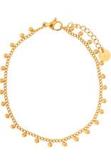 Essentialistics Essentialistics armbandje Tiny dots - goud