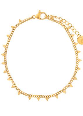 Essentialistics Essentialistics armbandje Tiny triangles - goud