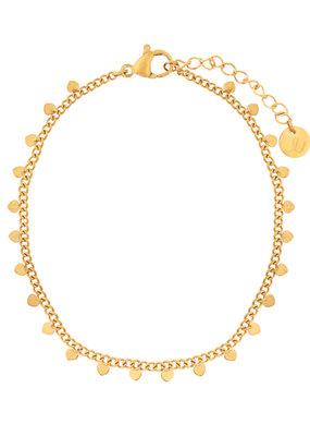 Essentialistics Essentialistics armbandje Tiny hearts - goud