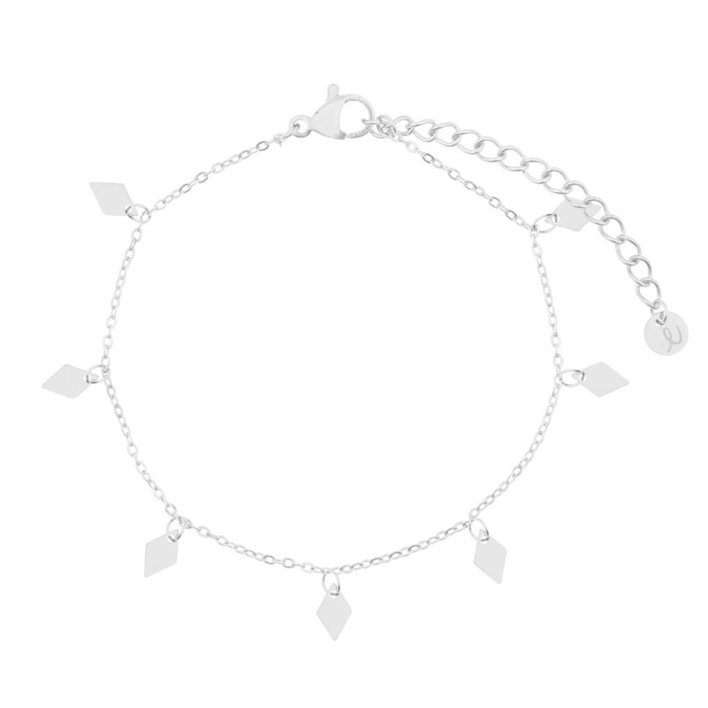 Essentialistics Essentialistics armbandje diamanten - zilver