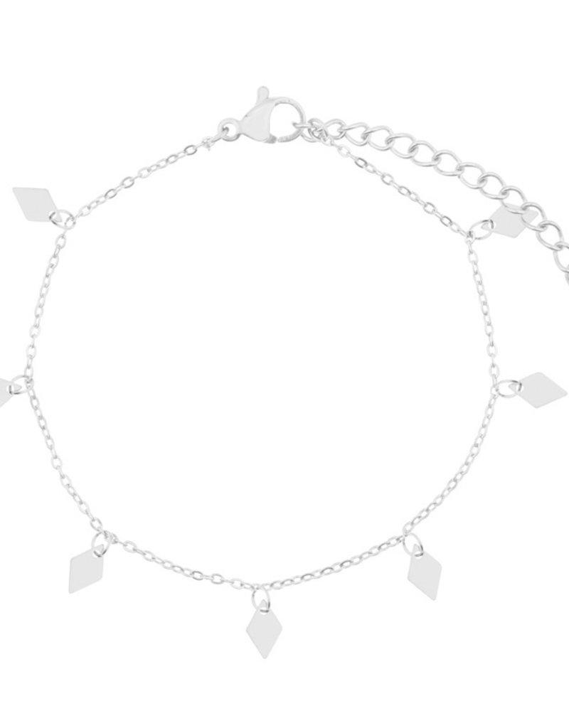 Essentialistics Essentialistics armbandje a lot of diamonds - zilver