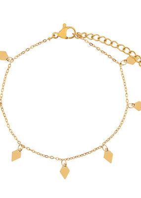 Essentialistics Essentialistics armbandje a lot of diamonds - goud