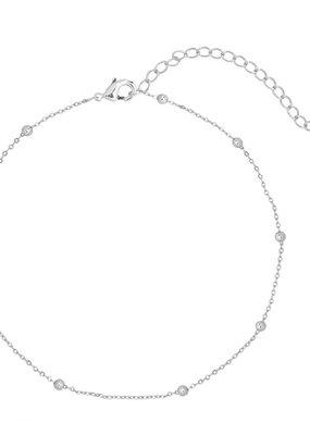 Essentialistics Essentialistics enkelbandjes tiny beads - zilver