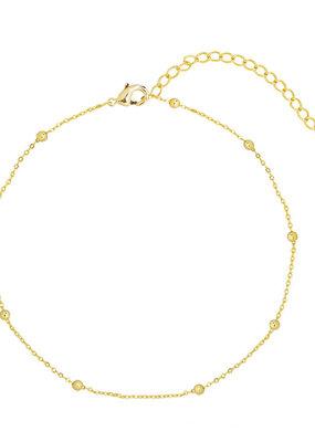 Essentialistics Essentialistics enkelbandjes tiny beads - goud