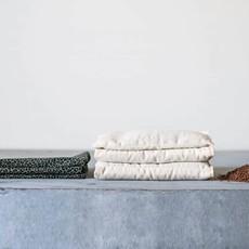 Janneke's  warmtesjaal Janneke's Warmtesjaal stip oudgroen   biologisch lijnzaad