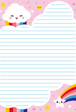studio inktvis notitieblok a5 wolk regenboog