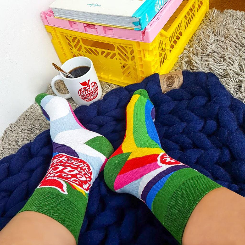 studio inktvis sokken i am a teacher maat 37-41
