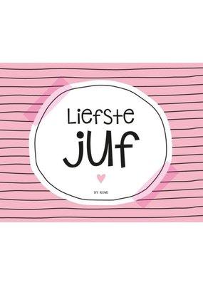 By romi By romi: Liefste juf / Kaart / Liefste juf