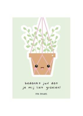 By romi Pink Goodies / Kaart groeien / Plantje