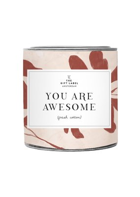 the gift label the gift label geurkaars groot You are awesome - Jasmine vanilla