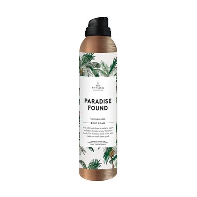 The gift label The gift label Showerfoam 200 ml - Paradise found
