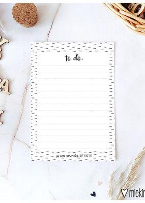 Miek in vorm miek in vorm Notitieblok A6 To do (jij bent geweldig, niet vergeten)