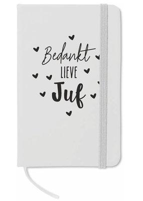 """Sproetiz Sproetiz: Notitieboekje """"Bedankt lieve Juf"""""""