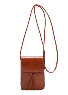 Ines Delaure Ines Delaure handtasje fauve (camel/oranje)