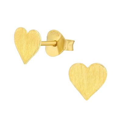 Precious jewels Precious jewels: hartje mat goudkleurig