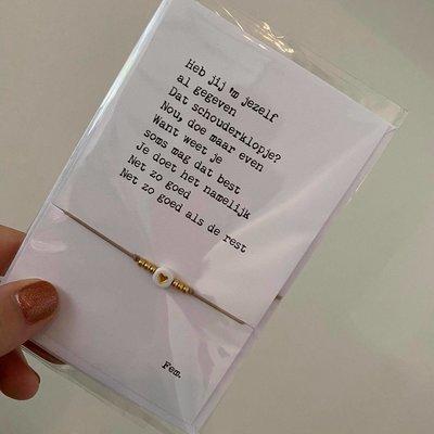Papierpleziertjes Papierpleziertjes - armbandplezier - Schouderklopje