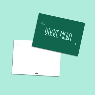Cartouche Cartouche kaart A6 Dikke merci