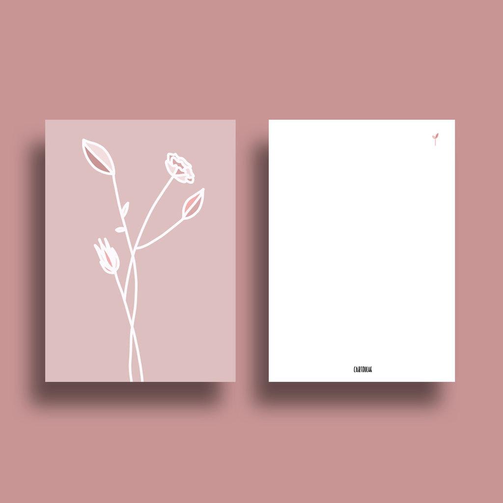 Cartouche Cartouche kaart A6 bloem