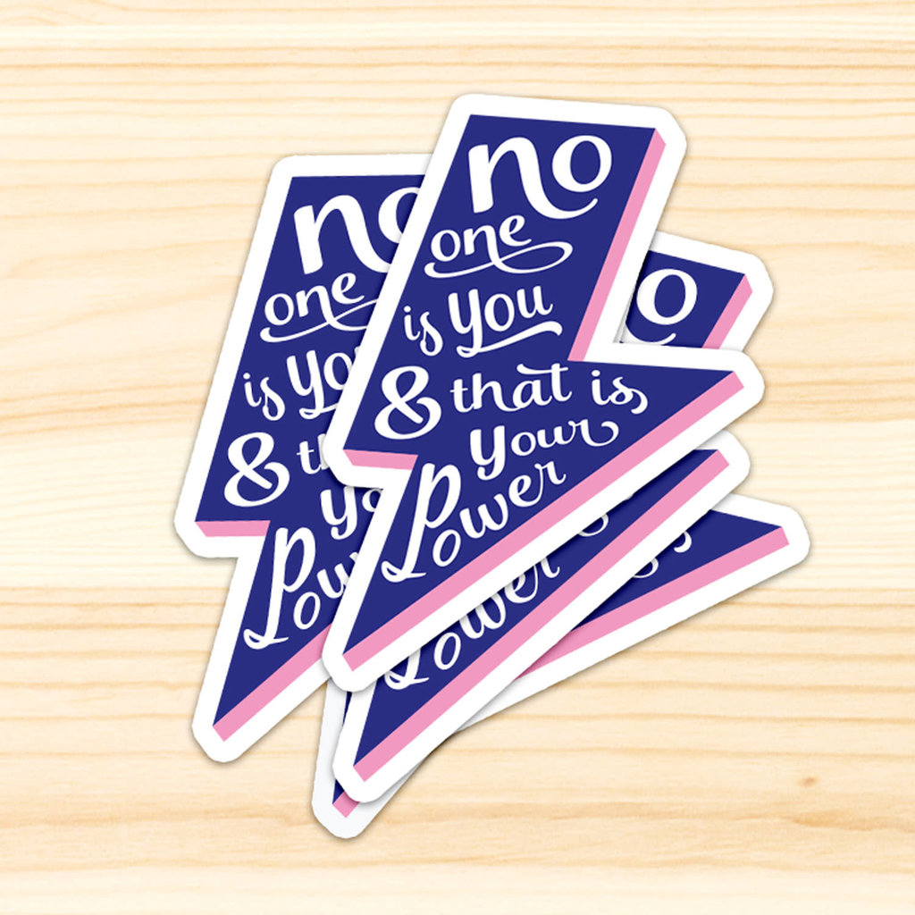 Studio inktvis studio inktvis stickers XL No one is you & that is your superpower