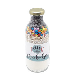 Geven is leuker Geven is leuker: Fles met koekmix - Chocoladekoekjes