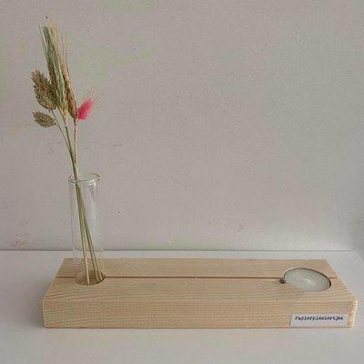 Papierpleziertjes Papierpleziertjes Plankpleziertje bloem kaarsje + buisje