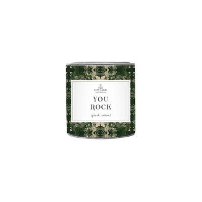 The gift label the gift label geurkaars klein You rock (jasmine vanilla)