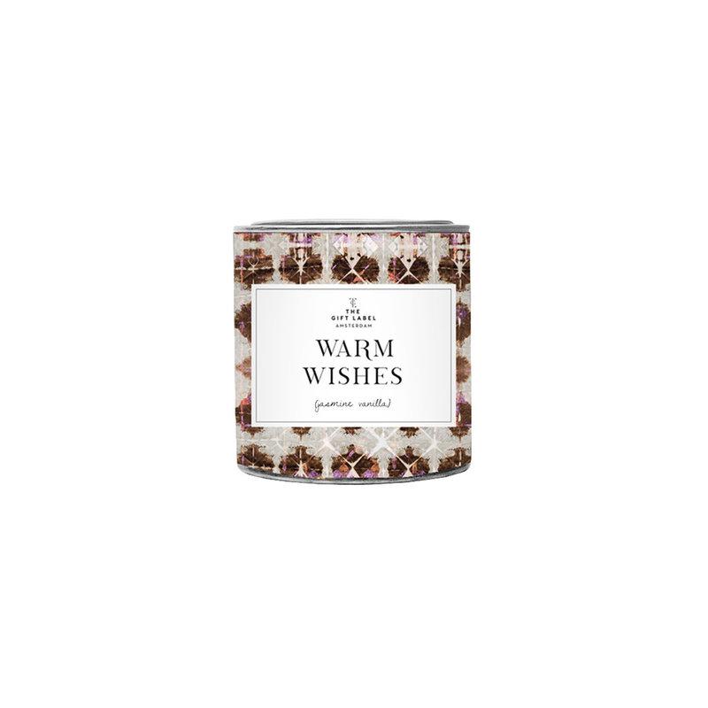 The gift label the gift label geurkaars klein Warm wishes (jasmine vanilla)