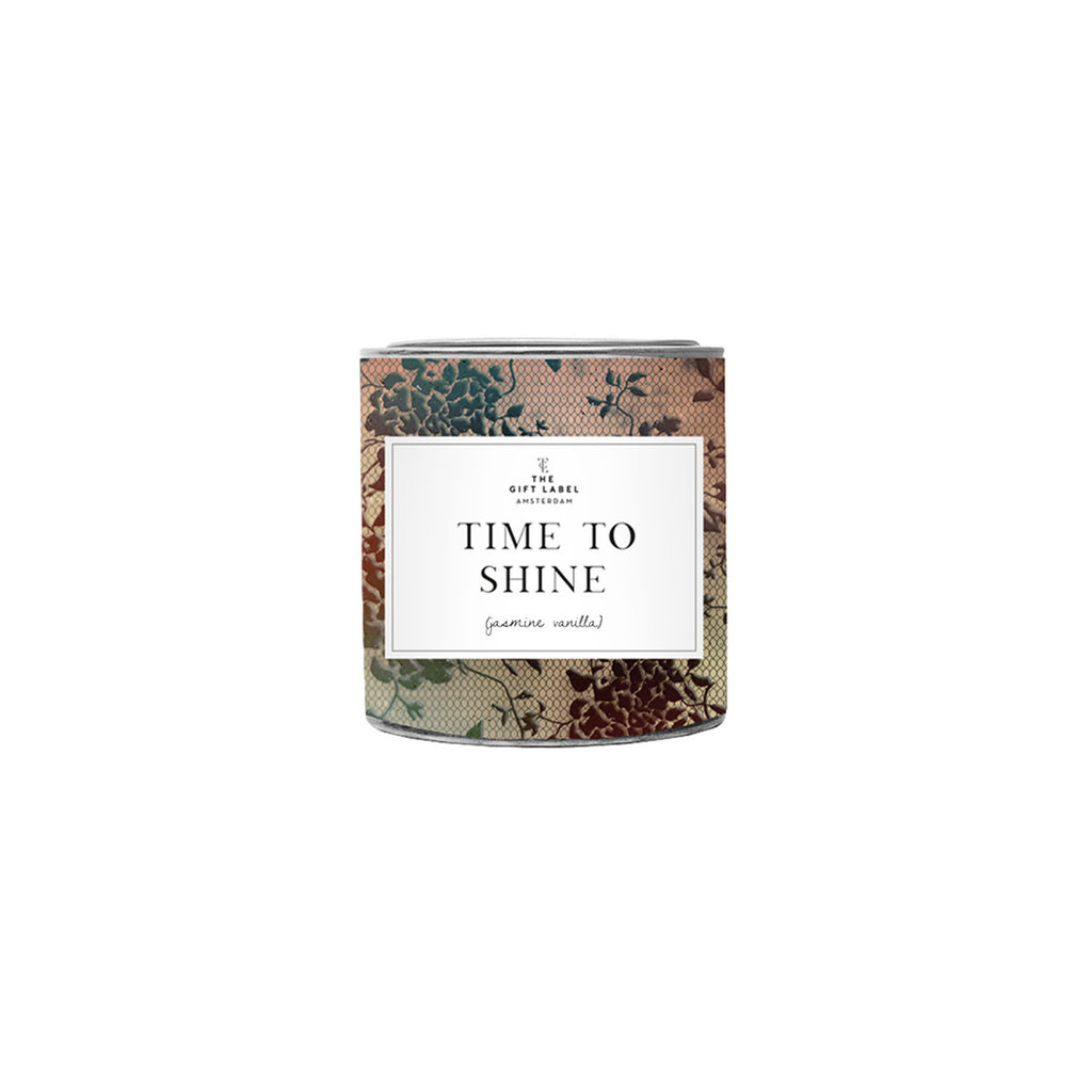 The gift label the gift label geurkaars klein Time to shine (jasmine vanilla)