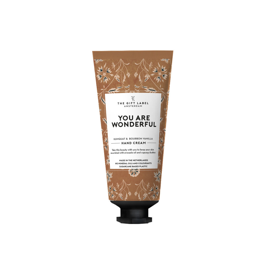 The gift label the gift label Hand cream tube You are wonderful