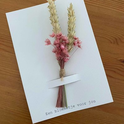 Mookstories Mookstories: Een bloemetje voor jou op a6 kaartje