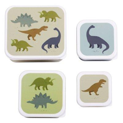 A little lovely company ALLC lunch & snackbox set: dino