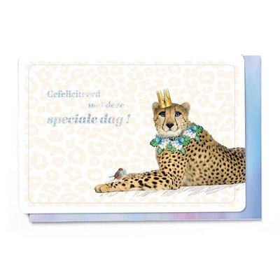 Enfant Terrible Dubbele wenskaart Enfant terrible: Gefeliciteerd met deze speciale dag! Cheetah