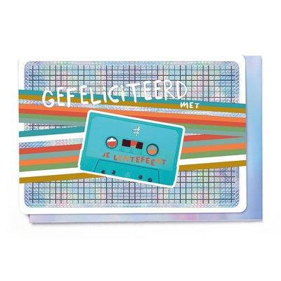 Enfant Terrible Dubbele wenskaart Enfant terrible: Gefeliciteerd met je lentefeest cassette