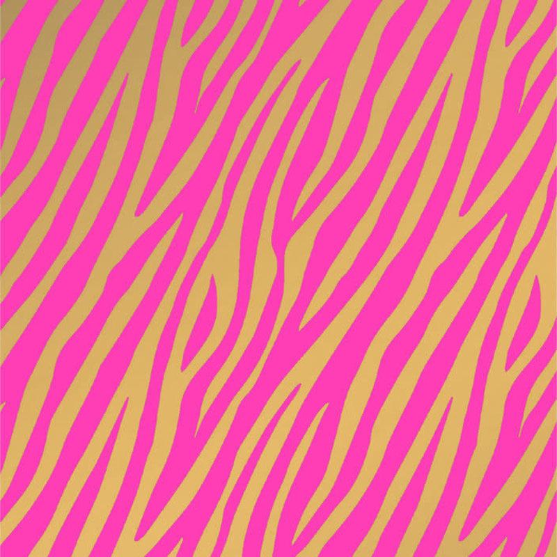 Studio stationery Studio Stationery kaftpapier Zebra roze/goud