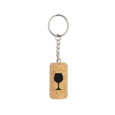 Winkeltje van Anne Winkeltje van Anne: sleutelhanger - kurk met wijnglas