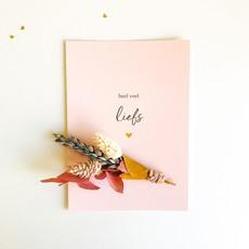 Stukske geluk Stukske geluk kaart bloemen 'heel veel liefs'