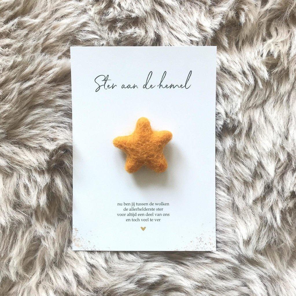 Stukske geluk Stukske geluk kaart 'ster aan de hemel'