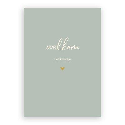 Stukske geluk Stukske geluk kaart 'welkom lief kleintje'